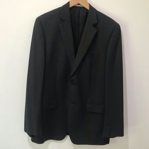 Calvin Klein navy blue 2 button wool blazer 42 R